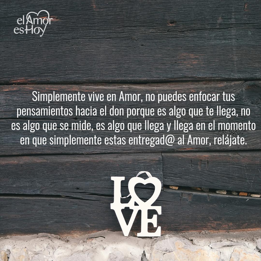 Simplemente vive en Amor